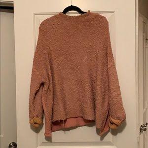 Free People Oversize Sweater - Peach/Blush